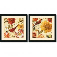 Lisa Audit Rainbow Garden Spice - set of 2 Office Art