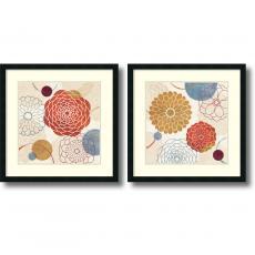 Veronique Charron Abstract Bouquet - set of 2 Office Art