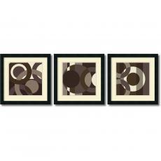Geometric - Denise Duplock Circa Cibonne Como - set of 3 Office Art