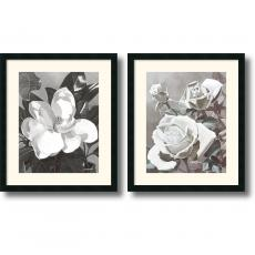 Marianne Hornbuckle White Magnolia and Roses - set of 2 Office Art