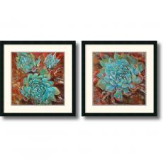Jillian David Design Blue Agave - Set Office Art
