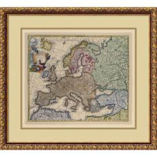 Map of Europe Office Art