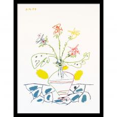 Pablo Picasso Vase with Flowers Office Art