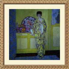 Frederick Carl Frieseke The Yellow Room, c. 1902 Office Art