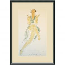 People - Abraham Walkowitz Isadora Duncan, in Green, Dancing, 1920 Office Art
