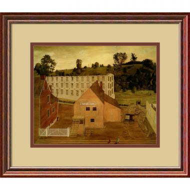 Jessie D. Bunting View of Darby, Pennsylvania, After the Burning of the Lord's Mill Office Art