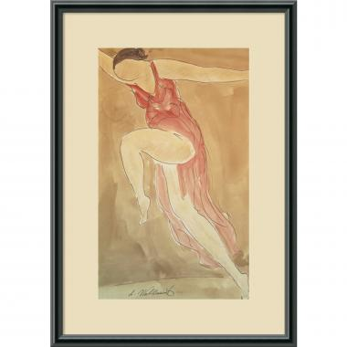 Abraham Walkowitz Woman in Red Dancing, 1919 Office Art