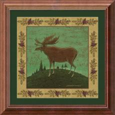 Warren Kimble Folk Moose Office Art
