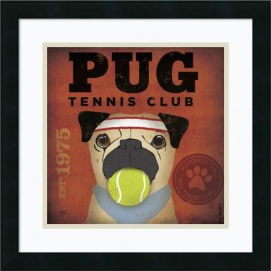 Stephen Fowler Pug Tennis Club Office Art