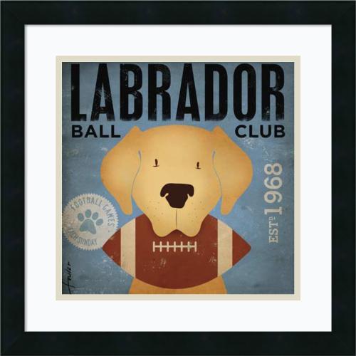 Stephen Fowler Labrador Ball Club Office Art