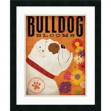Stephen Fowler Bulldog Blooms Office Art