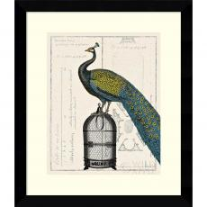 All Motivational Posters - Sue Schlabach Peacock Birdcage II Office Art