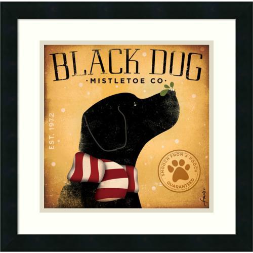 Stephen Fowler Black Dog Mistletoe Office Art