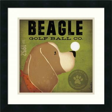 Stephen Fowler Beagle Golf Ball Co. Office Art
