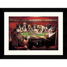C.M. Coolidge Poker Sympathy Office Art