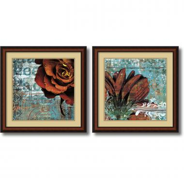 Christina Lazar Schuler Graffiti Rose & Gerbera - set of 2 Office Art