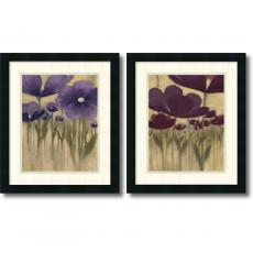 Watercolors - Vittorio Maria Summer Blooms - set of 2 Office Art