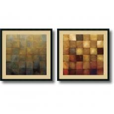 Fine Art - Wani Pasion Modra & Cerveny - set of 2 Office Art
