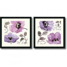 Watercolors - Pela Studio Floral Waltz Plum - set of 2 Office Art