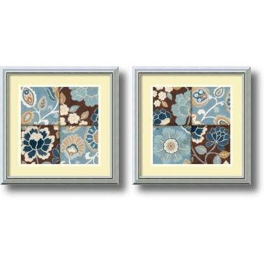 Alain Pelletier Patchwork Motif - set of 2 Office Art