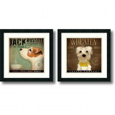 Stephen Fowler Coffee Dogs - set of 2 Office Art