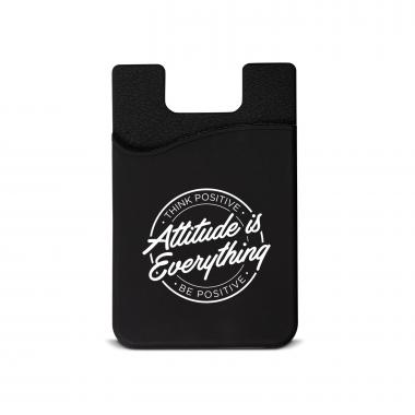 Attitude is Everything Silicone Mobile Wallet