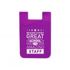 Teacher Gifts - Behind Every Great School Silicone Mobile Wallet