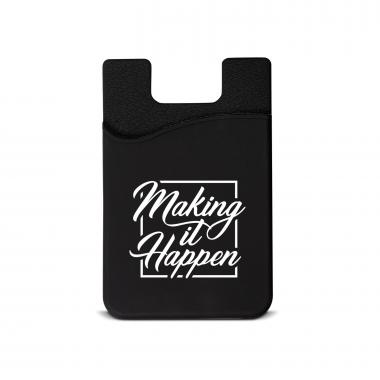 Making it Happen Square Silicone Mobile Wallet