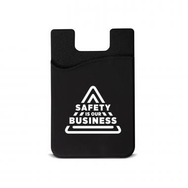 Safety is Our Business Silicone Mobile Wallet