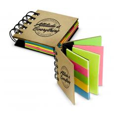 Office Supplies - Attitude is Everything Spiral Sticky Note Booklet