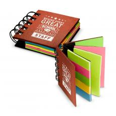 Office Supplies - Behind Every Great School Spiral Sticky Note Booklet