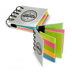 Office Supplies - Customer Service Spiral Sticky Note Booklet