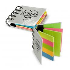 Office Supplies - Nurses Touch Hearts Spiral Sticky Note Booklet