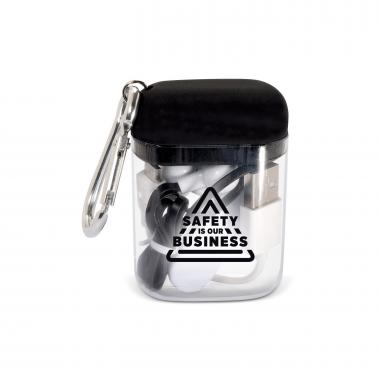 Safety is Our Business Value Bluetooth Earbuds & Case