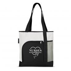 National Nurses Day - Nurses Touch Hearts Brilliant Large Tote