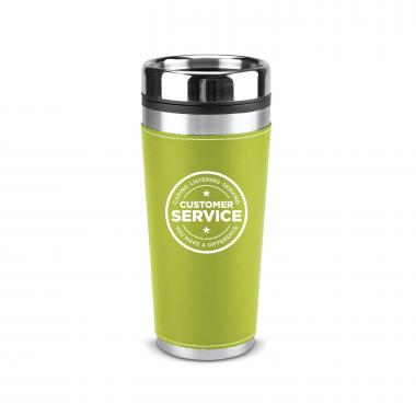 Customer Service 16oz Leatherette Tumbler