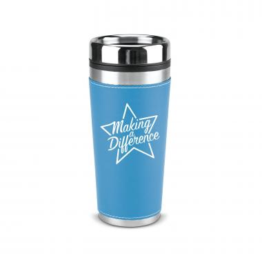 Making a Difference 16oz Leatherette Tumbler
