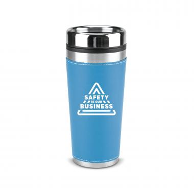 Safety is Our Business 16oz Leatherette Tumbler