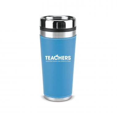 Teachers Build Futures 16oz Leatherette Tumbler