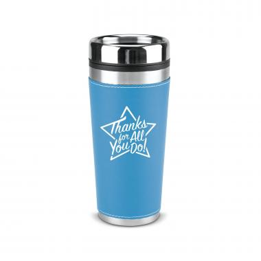 Thanks for All You Do Star 16oz Leatherette Tumbler