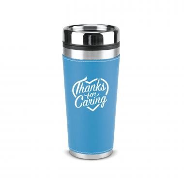 Thanks for Caring 16oz Leatherette Tumbler