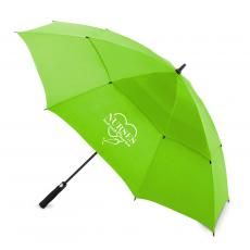 "National Nurses Day - Nurses Touch Hearts 60"" Auto-Open Vented Golf Umbrella"