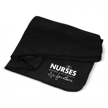 Nurses Making a Difference Cozy Fleece Blanket
