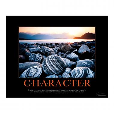 Character Beach Motivational Poster