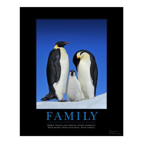 Family Penguins Motivational Poster