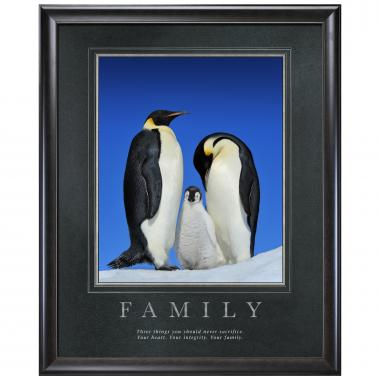 Family Penguins Motivational Poster