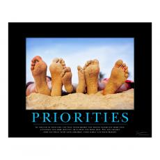 Motivational Posters - Priorities Beach Motivational Poster