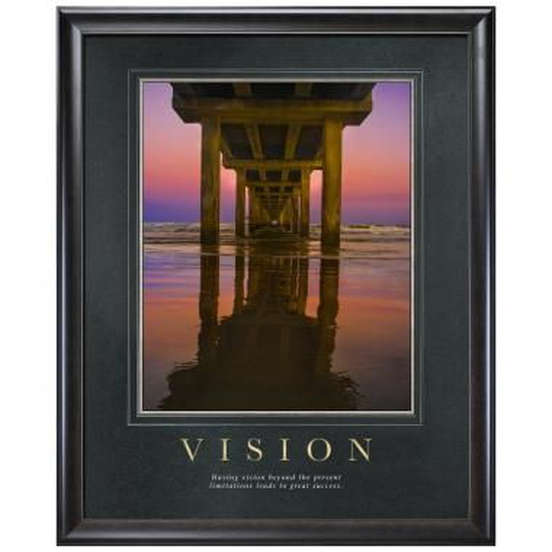 Vision Bridge Motivational Poster