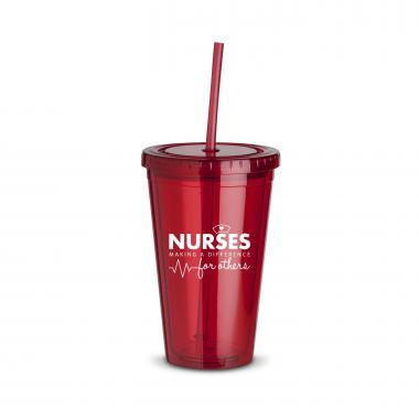 Nurses Making a Difference 16oz Straw Tumbler