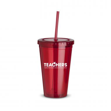 Teachers Build Futures 16oz Straw Tumbler